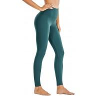 CRZ YOGA Damen Sports Leggings Höhe Taille Sporthose Tights mit Tasche Verdeckte -71cm Dunkler Saphir 34 Bekleidung