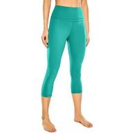 CRZ YOGA Damen Yoga Capri Leggings Sport Hose mit Hoher Taille-Nackte Empfindung -48cm bläuliches Grün 40 Bekleidung