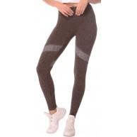BeLady Thermo Leggings Damen Knöchellang Fitness Yoga Hose Lange Streetwear Sporthose mit Weichem Warmen Innenfleece Elastizität Gris Gris Bekleidung
