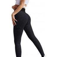 DondPO Damen Leggings Yoga-Hose Sexy Hüftlifting mit Hoher Taille Sporthose Anti-Cellulite Bauchkontrolle Strumpfhosen Yogahosen Stretch Sportleggings Push UP Yogaleggings Lift Sweathosen Bekleidung
