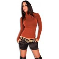 In Style Damen Pullover langärmelig mit Rollkragen Bekleidung
