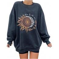 Risaho Damen Pullover Strickpullover Oberteile Pulli Sweatshirt Rundhals Ausschnitt Oversize Hemd Jumper Bluse Tops Bekleidung