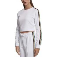 Urban Classics Damen Ladies Multicolor Taped Sleeve Crewneck Pullover Bekleidung