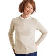 Wool Overs Pullover mit Rundhalsausschnitt aus Lammwolle für Damen Elfenbeinwei XL Bekleidung