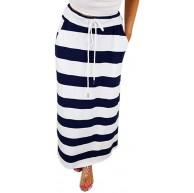Breit gestreifter Rock KaloryWee Hüftgurt Rock Mode Streifen hohe Taille Maxi Langer Rock Kleine Mädchen tragen Röcke Es kann EIN Rock-Pyjamas Sein Bekleidung