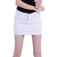 Damen Mini Jeansrock Slim Fit Bodycon Minirock Festival Kurz Fashion Jeans Rock Bleistiftrock Sommerröcke Mit Taschen Bekleidung
