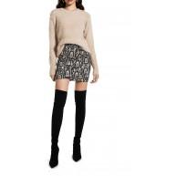 Ivy Revel DE Damen Drapy Mini Skirt Rock Bekleidung