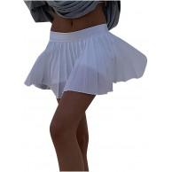KIMODO Damenröcke Einfarbige Faltenröcke Skater Röcke mit Hoher Taille Schmaler Dünner Reißverschluss Retro Minirock im College Stil Bekleidung
