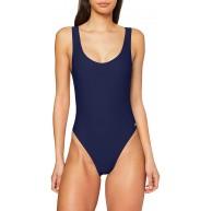 Haute Pression Damen 100 Badeanzug Mehrfarbig Marine C03 42 Bekleidung
