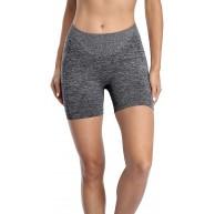 Charmo Seamless kurz Yogashorts damen kurze Leggins Sporthose Yogahosen Praktische Radlerhose Bekleidung