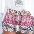 Damen Sommer Strand Shorts ABsolute Frauen böhmischen Sommer Print Strand Casual Shorts Yoga Shorts Bekleidung