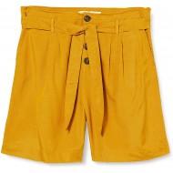 ONLY Damen ONLVIVA Life HW Belt Long PNT Shorts Golden Spice 40 Bekleidung