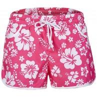 Zarupeng Damen Mehrfarbige Blumendruck Hot Pants Strand-Shorts Elastische Bund Atmungsaktiv Freizeitshorts Chino-Shorts Sportshorts mit Gürtel Bekleidung