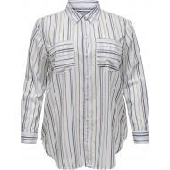 ONLY Carmakoma Damen Carhalla Life Ls ESS Shirt Bekleidung