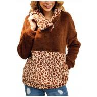 Voicry Frauen Patchwork Flanell Langarm Sweatshirt Pullover Shirt Top Bluse Bekleidung