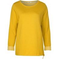 Cecil Damen 313988 Langarmshirt Mehrfarbig Ceylon Yellow 21892 Medium HerstellergrößeM Bekleidung