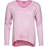 Cotton Candy by Just Fashion Damen Langarmshirt LEDA mit V-Neck Bekleidung