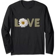 Liebeswort Gänseblümchen Blume Langarmshirt Bekleidung