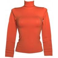 SENSI' Langarmshirt Damen Rollkragen Mikrofaser Nahtlos Seamless Made in Italy Bekleidung