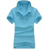 Damen-Polo-Shirt Baumwolle lässig kurzärmelig Revers Bekleidung