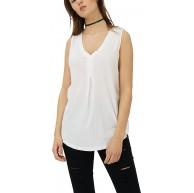 trueprodigy Casual Damen Marken Top einfarbig Basic Oberteil Cool Stylisch V-Ausschnitt Ärmellos Slim Fit Top für Frauen Bekleidung