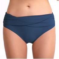 XuCesfs Badehose für Damen einfarbig sexy Hüftfalte mittlere Taille Farbe Blau Größe XL Bekleidung