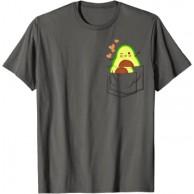 Avocado in Brusttasche - Veganer Vegetarier Humor Avocado T-Shirt Bekleidung
