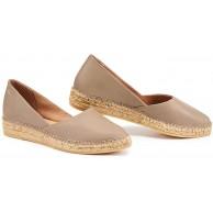 VISCATA Handgefertigt in Spanien Rascassa Leder authentisch und Original flache Schuhe mit Innensohle Kissen Beige mauve 39 EU Schuhe & Handtaschen