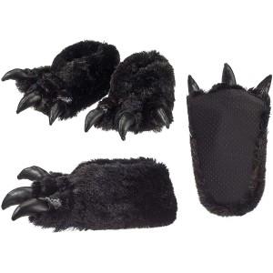 Cepewa Plüsch Hausschuhe Monstertatzen Kinder Damen Monster 40 41 Schuhe & Handtaschen
