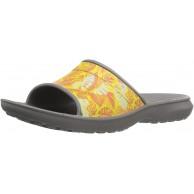 crocs Unisex-Erwachsene ClsscTropicSld Pantoffeln Grau Smoke 46 47 EU Schuhe & Handtaschen