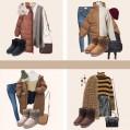 Damen Winterstiefel Schneestiefel Gefüttert Warm Boots Klassisch Strick-Design Schuhe & Handtaschen