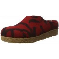 Haflinger Unisex-Erwachsene Grizzly Onda Hausschuhe Rot Rubin 41 EU Schuhe & Handtaschen