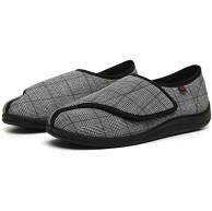 LNLJ Einstellbare Bequeme Diabetes Schuh Plaid verbreiterter Klettverschluss Verstellbarer Zuckerfuß Fett breite Stillschuhe-schwarz 41 Hausschuhe Klettschuhe Senioren Schuhe & Handtaschen