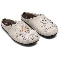 MARPEN SLIPPERS Hausschuhe Marilyn Grau Hausschuhe Damen Winter Baumwolle Pantoffeln Schuhe & Handtaschen