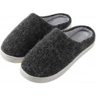 riou Herren Damen Hausschuhe Winter Plüsch Pantoffeln Gefüttert Warm Bequem Innen rutschfeste Slippers Schuhe & Handtaschen