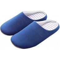 Shujin Hausschuhe Unisex Herren Damen Memory Schaum Atmungsaktive Frottee Pantoffeln Baumwolle Gefüttert rutschfeste Pantoffeln für Drinnen und Draußen Slipper Shujin Schuhe & Handtaschen