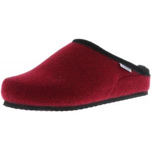 TOFEE Damen Hausschuhe Pantoffeln Pantoletten Naturwollfilz rot Bordeaux Größe37 FarbeRot Schuhe & Handtaschen