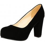 OUWANG Damen high Heels Plateau runde elegant Pumps Schuhe & Handtaschen