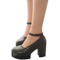 Yoaa Vintage High Heels Abendschuhe Damen Classic T-Strap Platform Schuhe Prinzessin Hochzeitsfeier Kleiderschuhe Anime Cosplay Schuhe Schuhe & Handtaschen