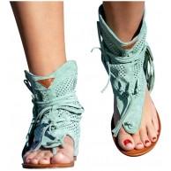95 Damen Sandalen Flachem Boden Römischen Sandalen Riemchen Sandalen Flachriemen Schuhe Damen Sandalen mit Reißverschluss Sommer Sandalen Flache Open Toe Flip Flop Schuhe Schuhe & Handtaschen