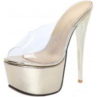 Lydee Damen Mode Mule Stiletto Heels Schuhe & Handtaschen